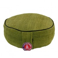 Meditation Cushion hemp -green-