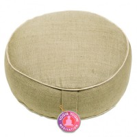 Meditation Cushion Hemp Nature/Light Green